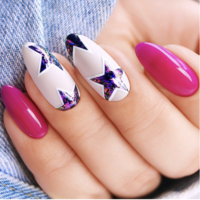Semilac Flash Flakes Galaxy Silver&Rosa 668