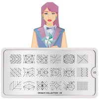 MoYou London Stempelplaat - Nail Art Stamping  Origami 03