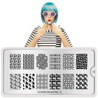 MoYou London Stempelplaat - Nail Art Stamping  Illusion 15