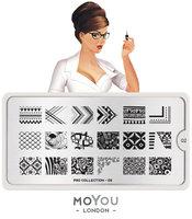 MoYou London Stempelplaat - Nail Art Stamping Pro 02