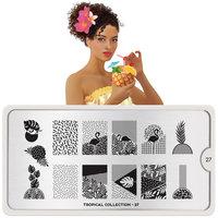 MoYou London Stempelplaat - Nail Art Stamping Tropical 27