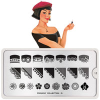MoYou London Stempelplaat - Nail Art Stamping Frenchy 15