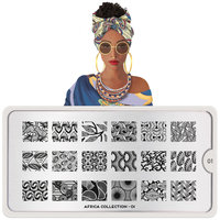 MoYou London Stempelplaat - Nail Art Stamping Africa 01
