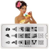 MoYou London Stempelplaat - Nail Art Stamping Tropical 26