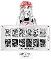 MoYou London Stempelplaat - Nail Art Stamping Flower Power 06