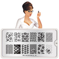 MoYou London Stempelplaat - Nail Art Stamping Pro XL 24
