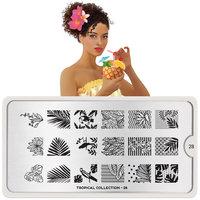 MoYou London Stempelplaat - Nail Art Stamping Tropical 28