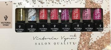 Victoria Vynn Gellak 8 Pack - Salon Gel Polish Inclusief Rubber Base & Topgel NO Wipe - in luxe verpakking - gel nagellak voor een super prijs - PROMO