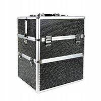 Nagelkoffer - Beauty Case XL Zwart met glitters - Exclusief bij ONS verkrijgbaar - veel opbergruimte