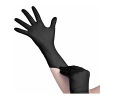 Soft Nitril Comfort Handschoenen Wegwerp - Disposable gloves - Zwart - Per doosje van 100 stuks Maat L