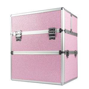 Nagelkoffer - Beauty Case XL Roze Glitter - Exclusief bij ONS verkrijgbaar - veel opbergruimte en een prachtig model