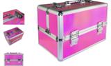 Beautycase - Nagel koffer - Make Up koffer - Hologram Unicorn Rainbow Knalroze - met super handige indeling voor nagellakken of flesjes - Alleen bij ONS verkrijgbaar_