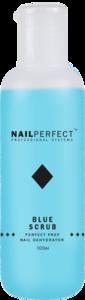 NailPerfect Blue Scrub - 100ml - voor het ontvetten van de nagelplaat - tevens geschkt voor het verwijderen van de plaklaag welke jouw topgel kan achterlaten