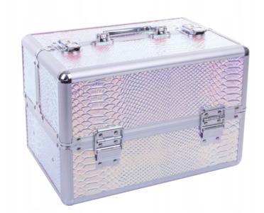 Beautycase - Nagel koffer - Make Up koffer - Hologram Unicorn Snake Iriserend - met super handige indeling voor nagellakken of flesjes - Alleen bij ONS verkrijgbaar