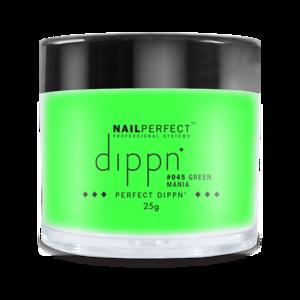 Dip poeder voor nagels   Dippn Nailperfect   045 Green Mania   25gr   Groen