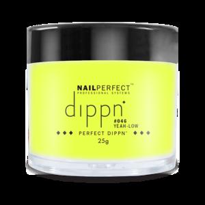Dip poeder voor nagels | Dippn Nailperfect | 046 Yeah Low | 25gr | Geel