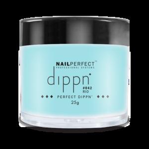 Dip poeder voor nagels | Dippn Nailperfect | 042 Rio | 25gr | Blauw