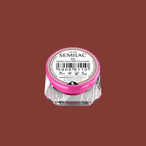 11 | Semilac | Spider Gum | Milk Chocolate | Nailart