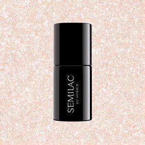 Semilac Gellak   578 Glow Together   7 ml.   Shimmer Perzik Roze