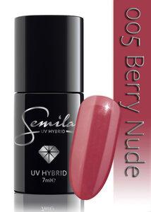 005 Lakier Hybrydowy UV Hybrid Semilac Berry Nude 7 ml