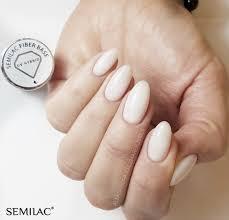 Semilac - SEMILAC FIBER BASEGEL 7ML - Melkachtig van kleur- builder gel - in een flesje - 7ml.