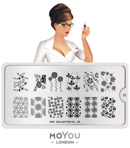 MoYou London Stempelplaat - Nail Art Stamping Pro XL 22