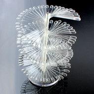 Nailart tip waaier - kleuren waaier  - 150 st. tips transparant - toon op luxe wijze uw kleuren en creaties!