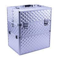 IMPREZZ Nagelkoffer  Beauty Case Diamond ZILVER   Afmetingen 25x35x40,5 cm   ALLEEN bij ONS verkrijgbaar   GRATIS verzending