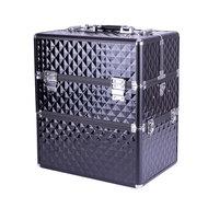 IMPREZZ Nagelkoffer  Beauty Case Diamond ZWART   Afmetingen 25x35x40,5 cm   ALLEEN bij ONS verkrijgbaar   GRATIS verzending